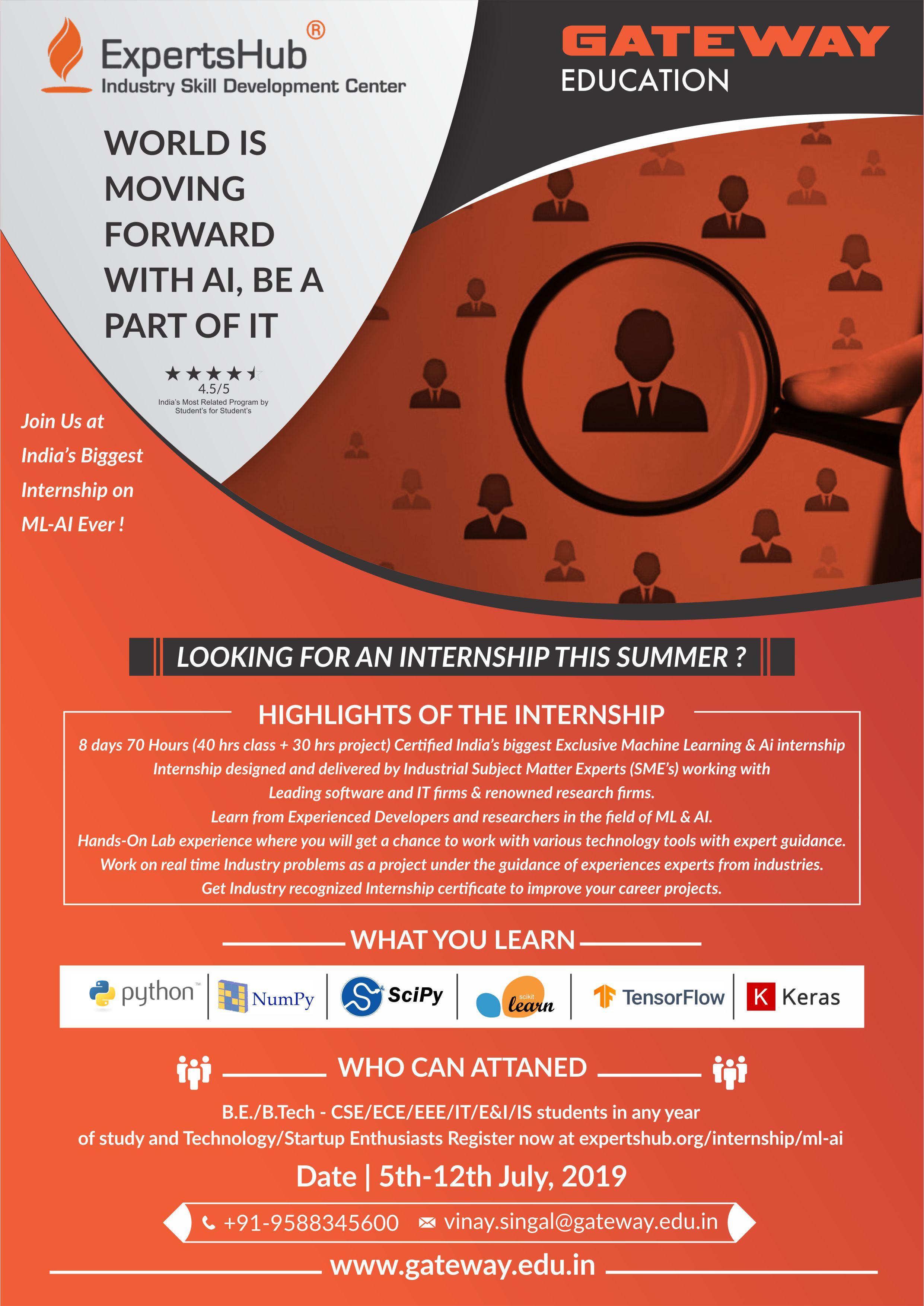 Ai internships summer 2019